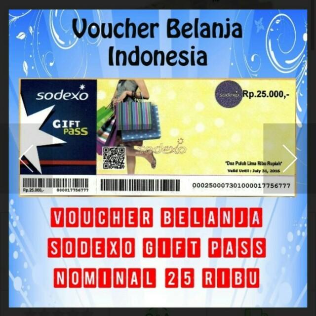 5 Lembar Voucher Sodexo 100000 - Daftar Harga Terupdate Indonesia - PreviousNext. Source · photo