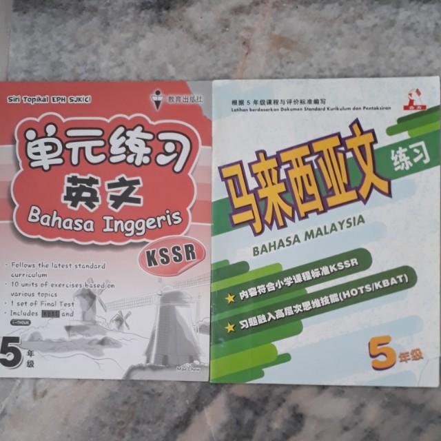 Year 5 BM & English Workbooks x2