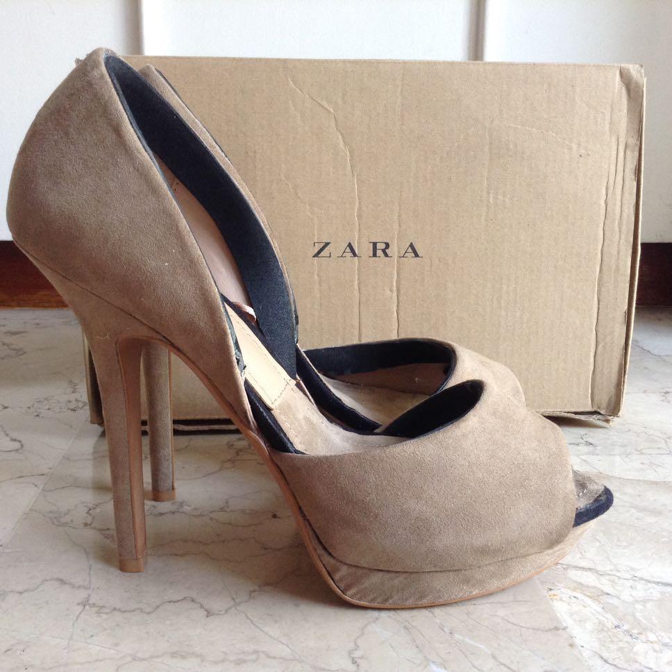 ZARA Beige High Heels Shoes