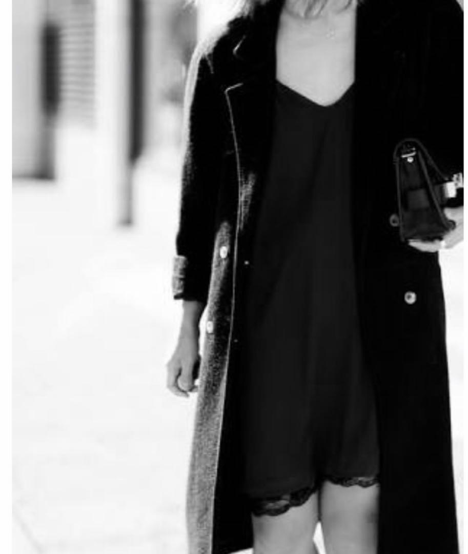 Zara Black slip dress with lace trim