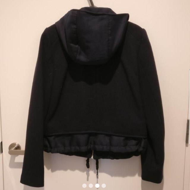 Zara navy winter jacket with hood