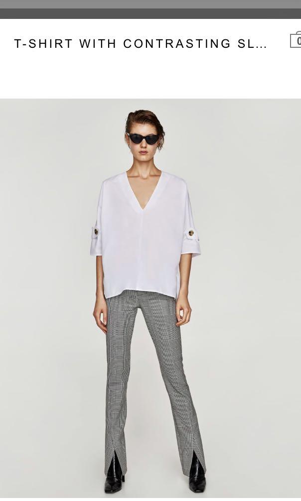 Zara Oversize White Blouse