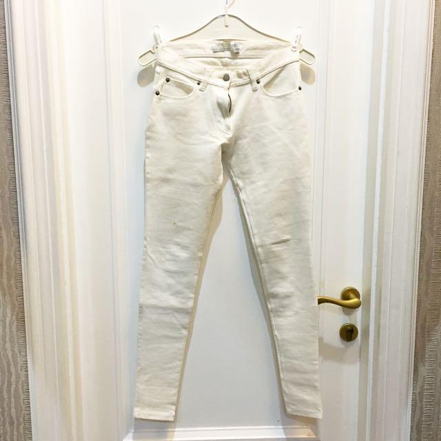 Zara skinny jeans white