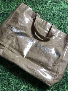 Commedescargons CDG Paper/plastic Tote Bag