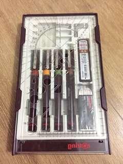 Rotring technical pen set