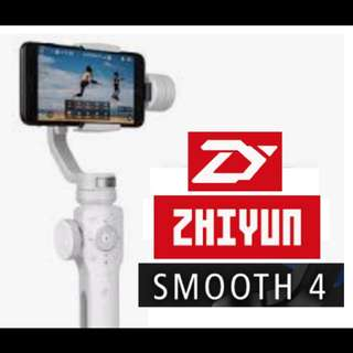 ZhiYun Smooth 4 (WHITE) 3-Axis Handheld Gimbal Stabilizer for Smartphones (PRE-ORDER)
