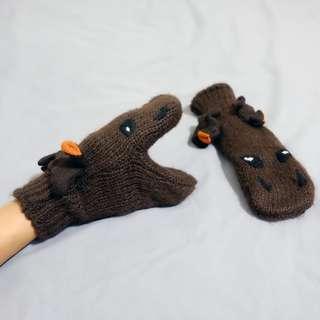 造型麋鹿手套