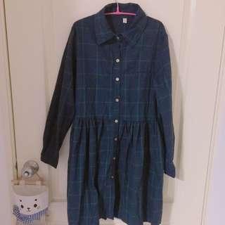 日系森林襯衫裙