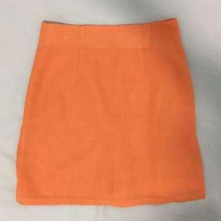 復古.Panton橘短褲裙