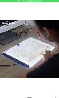 LED拷畫臺A4臨摹繪畫板手寫板漫畫素描導光板 漫畫繪圖神器