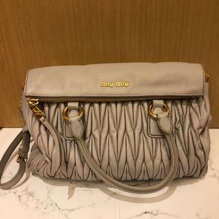 Miu Miu grey handbag