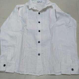 White polo long sleeves