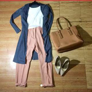 Nude Slim Trousers