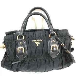 Prada Gaufre Nylon bag in Black