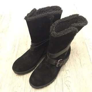 🚚 【N17154】Nine West 麂皮內刷毛中靴