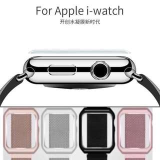 iWatch Accessories: Combo Deal (Milanese Strap & 3D tempered Glass + Gift box)