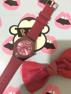 Swatch Maroon watch