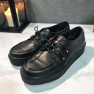Tommy Gigi Hadid 厚底鞋 皮鞋 鬆糕鞋 原宿 龐克 增高鞋