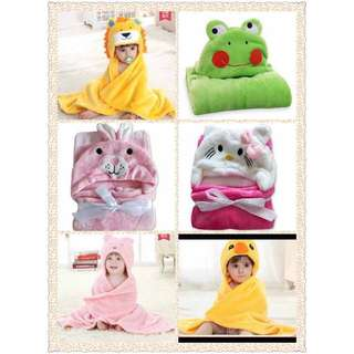 Kid's animal design towel with hood