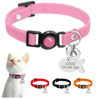 Personalized Custom Quick Release Engraving ID Pet Collar For Small Dogs / Kittens &  Cats