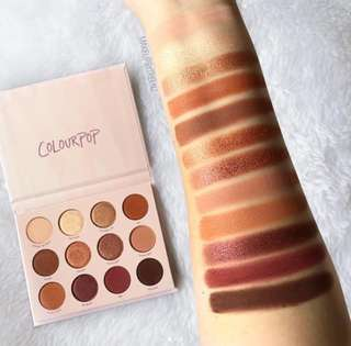 Instock Colourpop Give It To Me Straight Pressed Powder Eyeshadow Palette