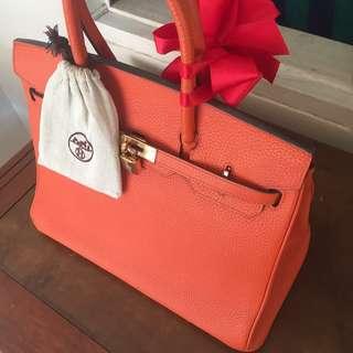 LIMITED SALE 40cm Orange Hermes Birkin Togo Gold hardware