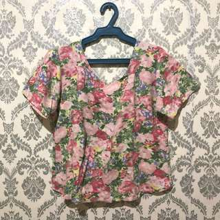 Sexy Floral Cropped Top