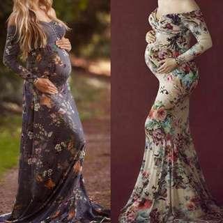 PO Photoshoot Maternity Long Maxi Dress
