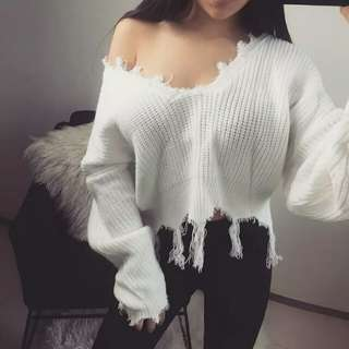 Oversized Knitted Top / Outwear / Sweater