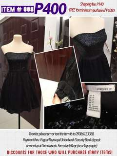 Forever 21 black dress with sequins debut wedding party