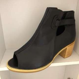 踝靴 魚口鞋