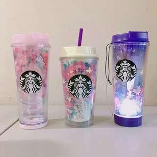 Limited Edition Starbucks Korea Spring Butterfly LED, Waterball Tumbler Bottlr