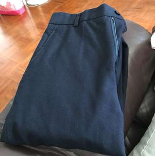 深藍色西褲 修腿