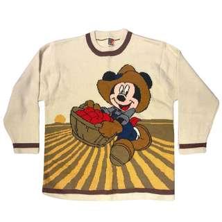 古著 🙉米奇 MICKEY 米老鼠 VINTAGE 文青 復古 老品 毛衣