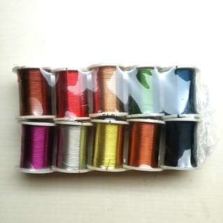 [LARGE DISCOUNT] Jewellery Beading Wire 10 Colour Set, 0.3mm Size, New and Unsealed