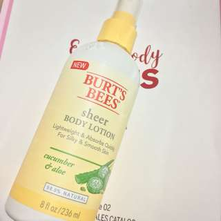 [NEW & AUTHENTIC!] Burt's Bees Sheer Body Lotion