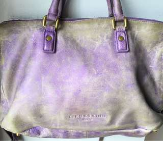 LIEBESKIND Berlin purple leather messenger bag