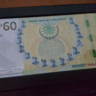 Hot item,Malaysia 60th anniversary banknote RM60
