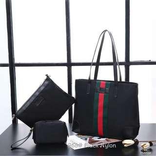 [GUCCI NYLON TOTE BAG GG-968] Tas Fashion Wanita Impor Murah