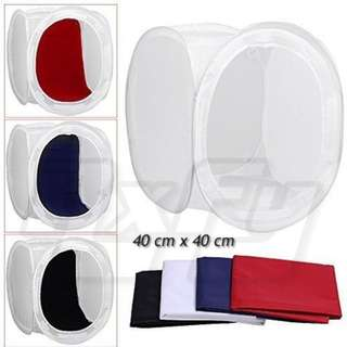 40 x 40cm Photo Studio Shooting Tent Light Room Cube Diffusion Soft Box Kit lightroom with 4 Colors Backdrop (Red Dark Blue Black White) for Photography 16 x 16 inch