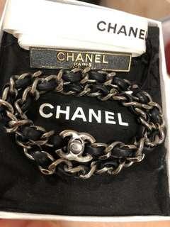 Chanel 藍色雙圈皮手練