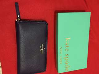 Kate spade wallet cobble hill lacey deep African violet 長款銀包
