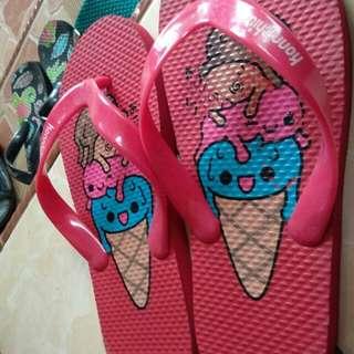 Konichiwa sandal jepit motif ice cream #IPB2018