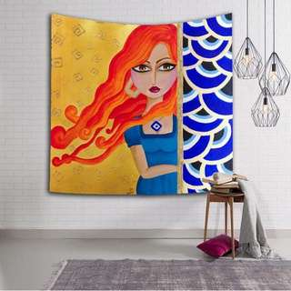 Girl Printed Tapestry Wall Decor (preorder)