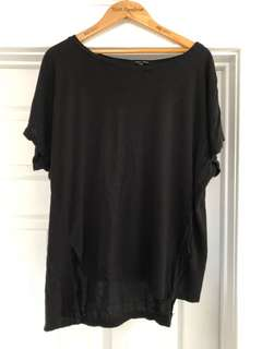 Black high low tshirt from new look