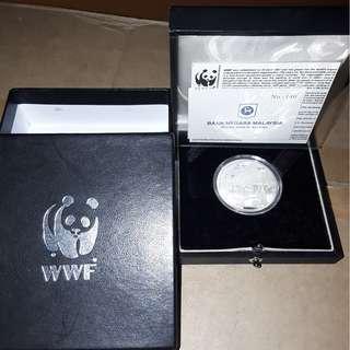 Malaysia WWF Proof Coin Silver RARE 2011