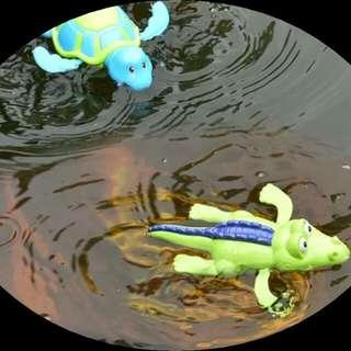 發條戲水玩具 洗澡玩具
