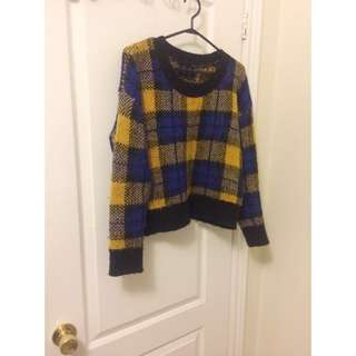 ※price dropped【Heather(Japanese) 】Block check Knit sweater