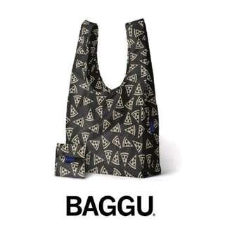 BAGGU美國環保購物袋品牌-黑底披薩