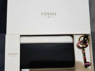 Balck&White wallet fossil ori